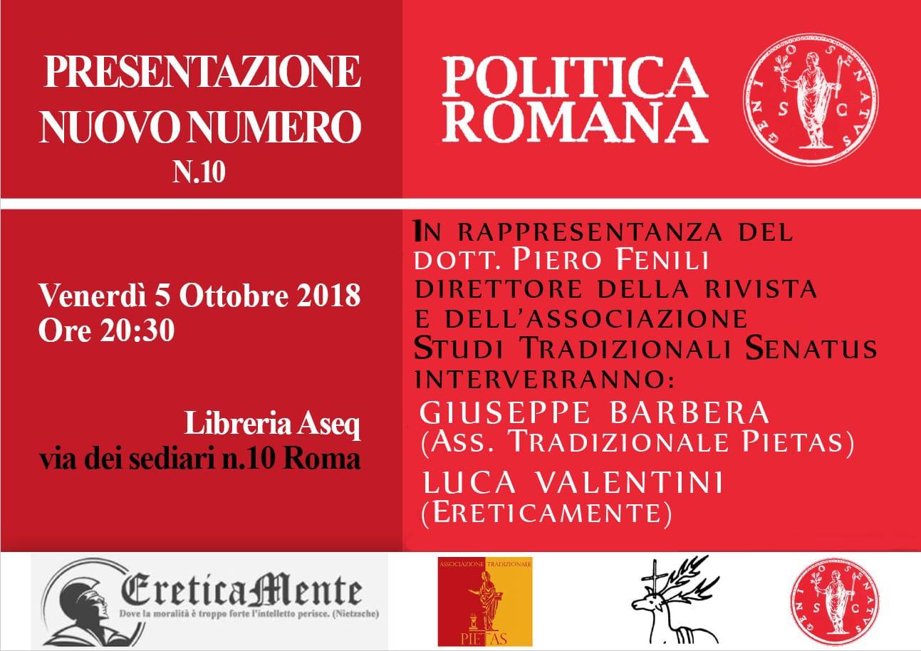 Il convegno su Politica Romana – Umberto Bianchi