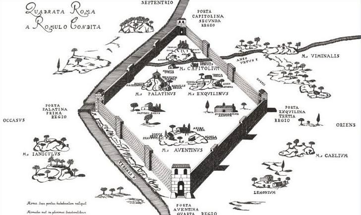 La fondazione di Roma sui sette colli – Giuseppe Barbera