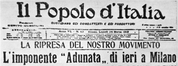 La volontà di rivincita: nascono i FdC, Milano 1919 (prima parte). A cura di Giacinto Reale
