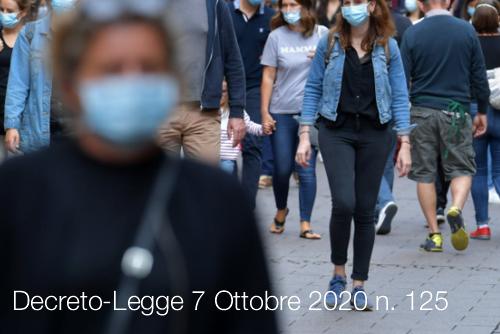 La non chiarezza del Decreto-Legge 07 Ottobre 2020, N. 125 – Daniele Trabucco