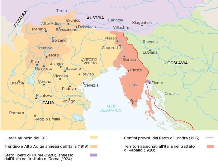 """""""AL MONTE NEVOSO!""""  Cento anni fa il Trattato di Rapallo che riconobbe i confini naturali dell'Italia"""