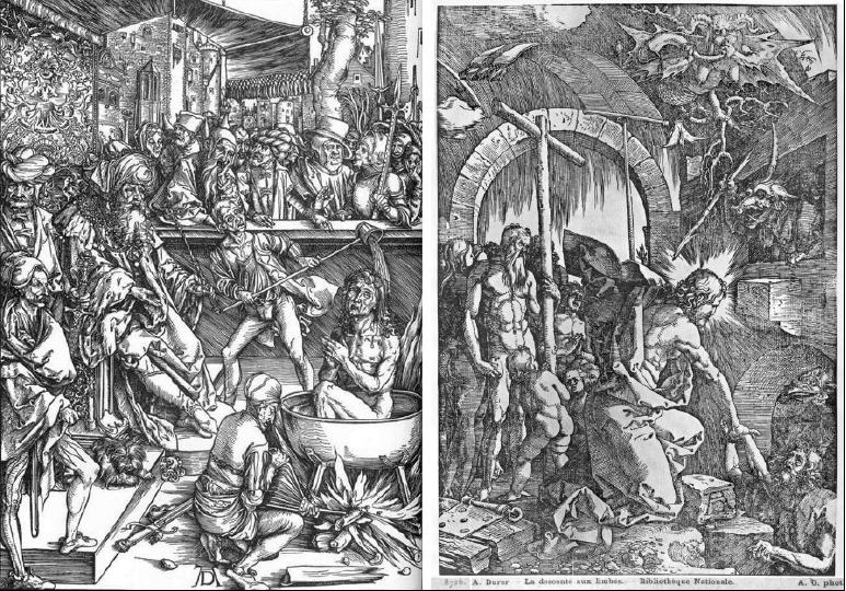 Due xilografie di Albrecht Dürer a confronto